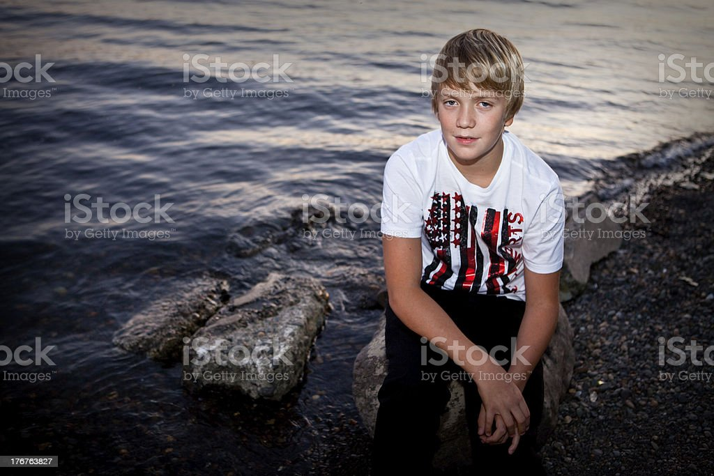 Portrait of a Teen Boy stock photo