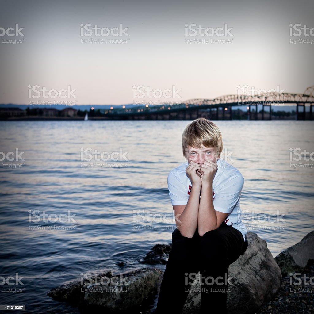 Portrait of a Teen Boy royalty-free stock photo