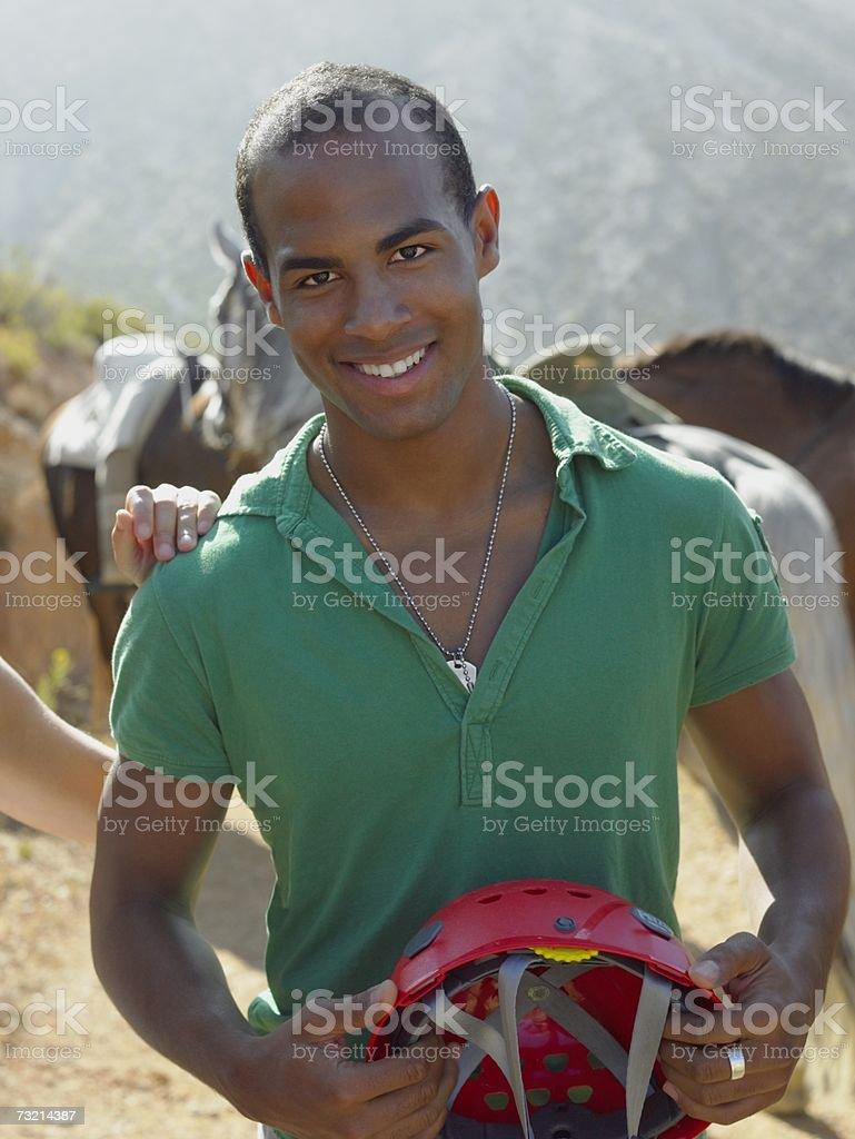 Portrait of a teenage boy royalty-free stock photo