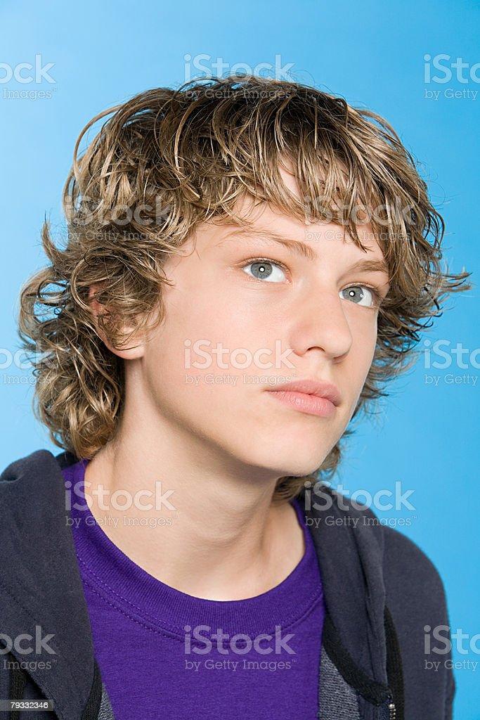 Porträt von einem Teenager-Jungen Lizenzfreies stock-foto