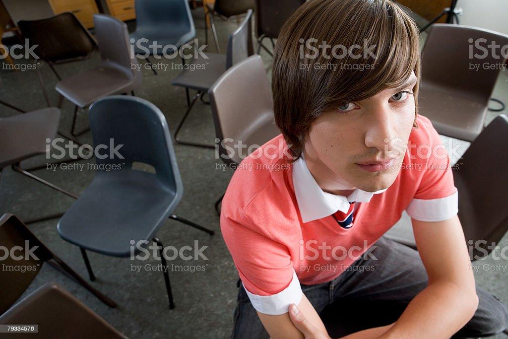 Retrato de um Menino Adolescente foto de stock royalty-free