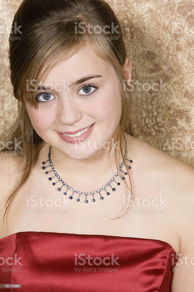 Retrato de uma Menina Adolescente foto de stock royalty-free