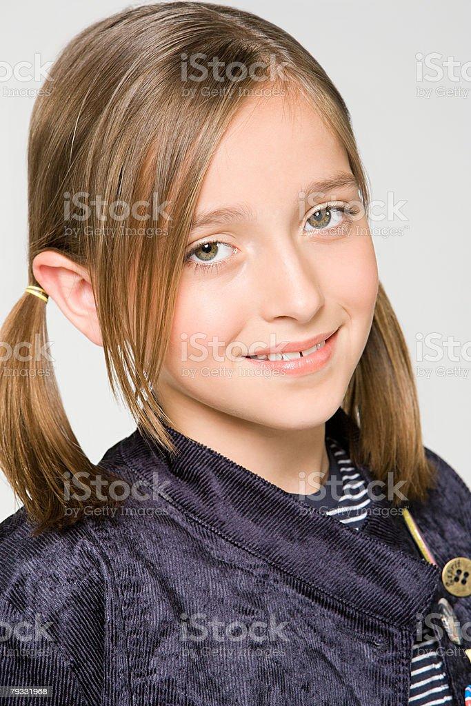 Porträt von einem Teenager-Mädchen Lizenzfreies stock-foto