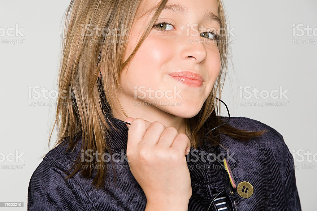 Portrait of a teenage girl royalty-free stock photo