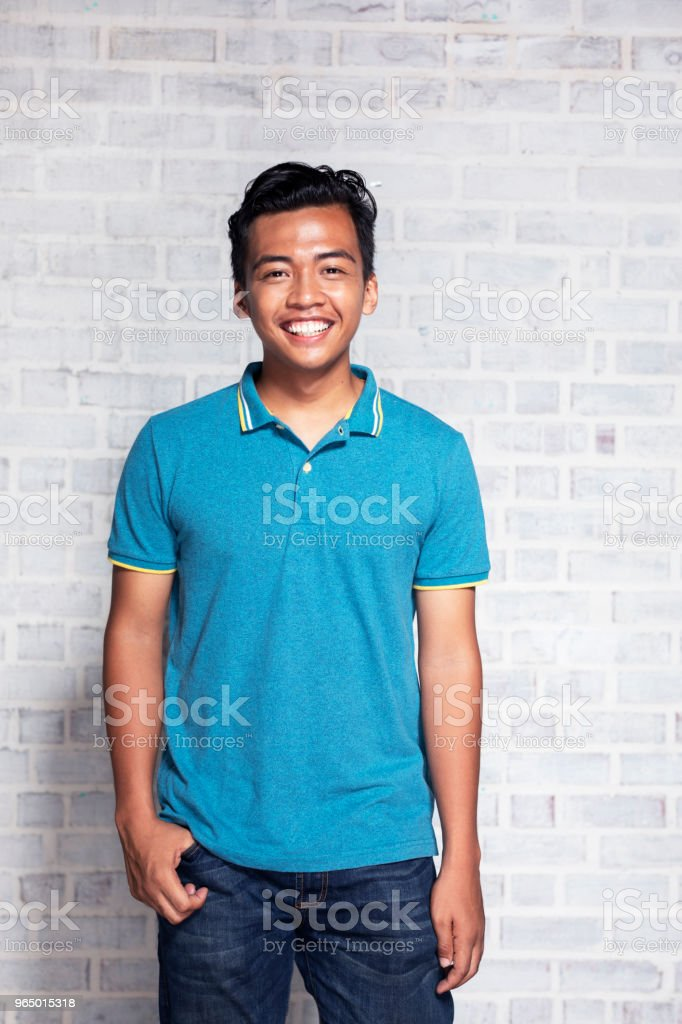 Portrait of a teenager boy stock photo