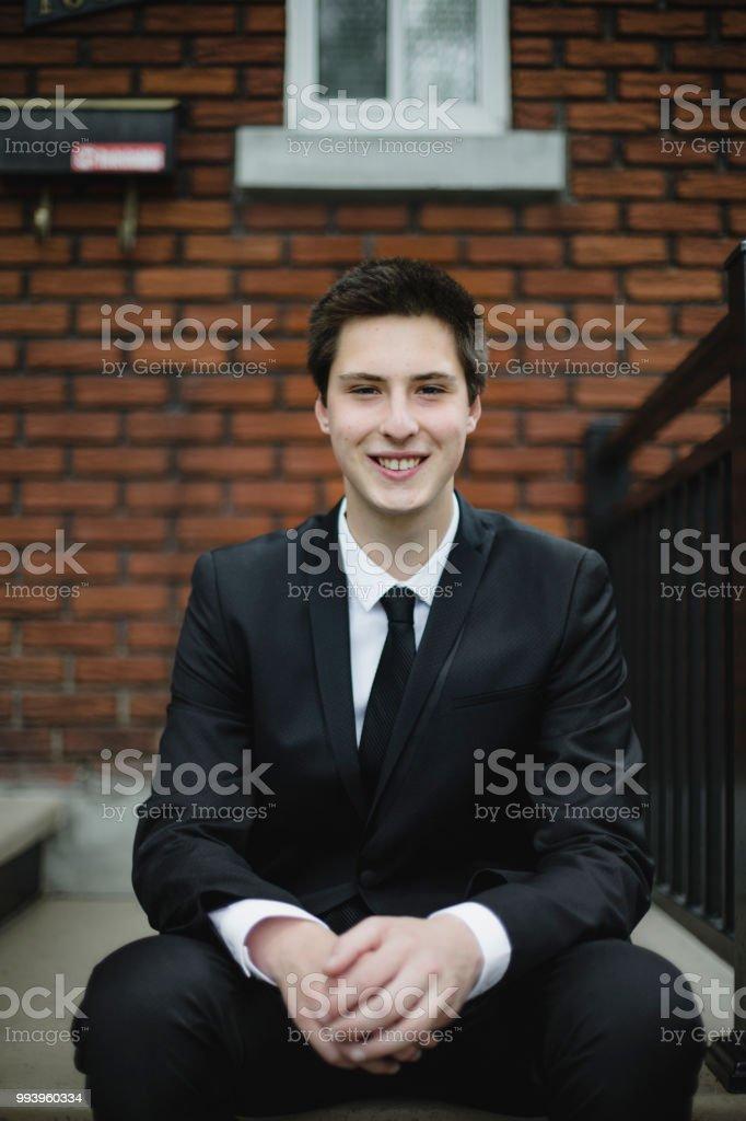 Porträt eines Teenagers Anzug – Foto