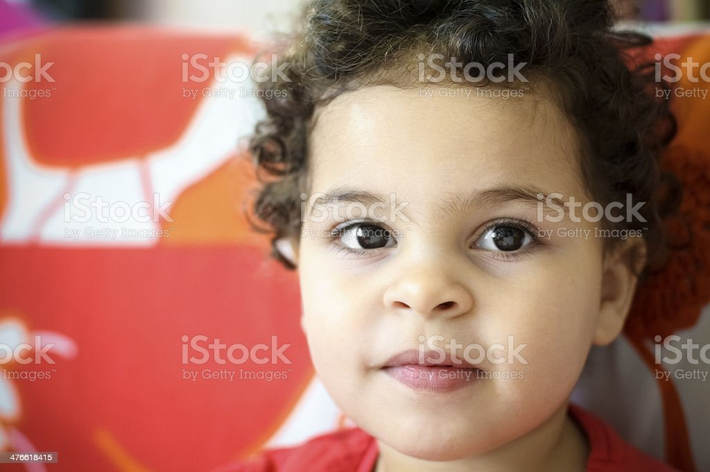 PEOPLE: Portrait of A Toddler royalty-free stock photo