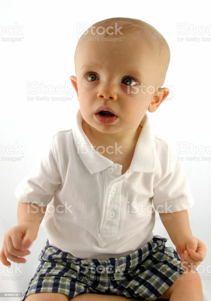 portrait of a toddler royalty-free stock photo