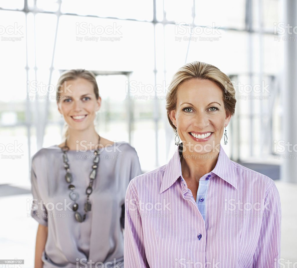 Portrait of a two smiling businesswomen royalty-free stock photo
