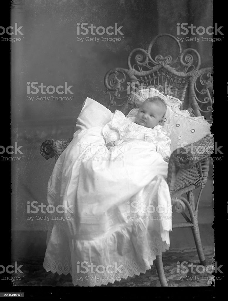 Portrait of a, Victorian-era, Baby stock photo
