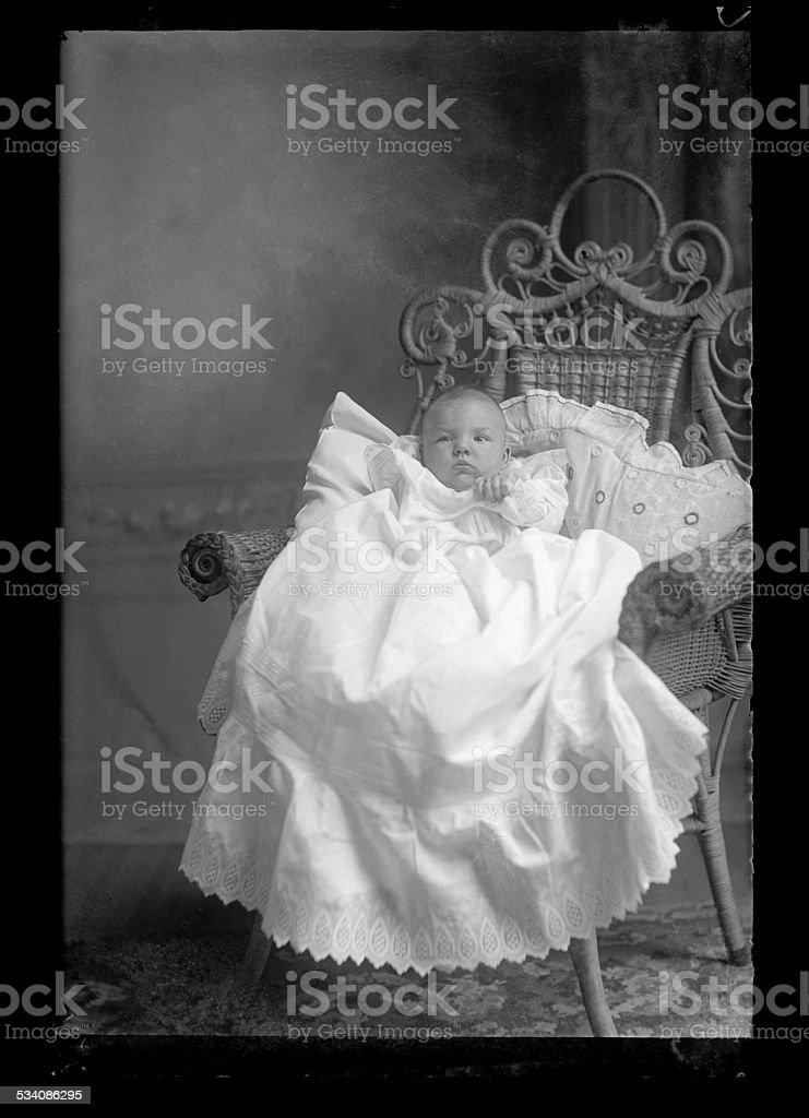 Portrait of a, Victorian-era, Baby stock photo