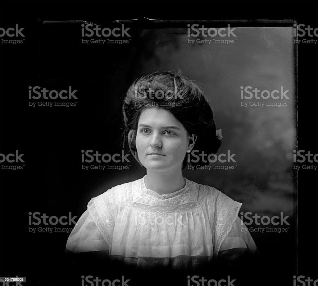 Portrait of a Victorian-era Woman stock photo