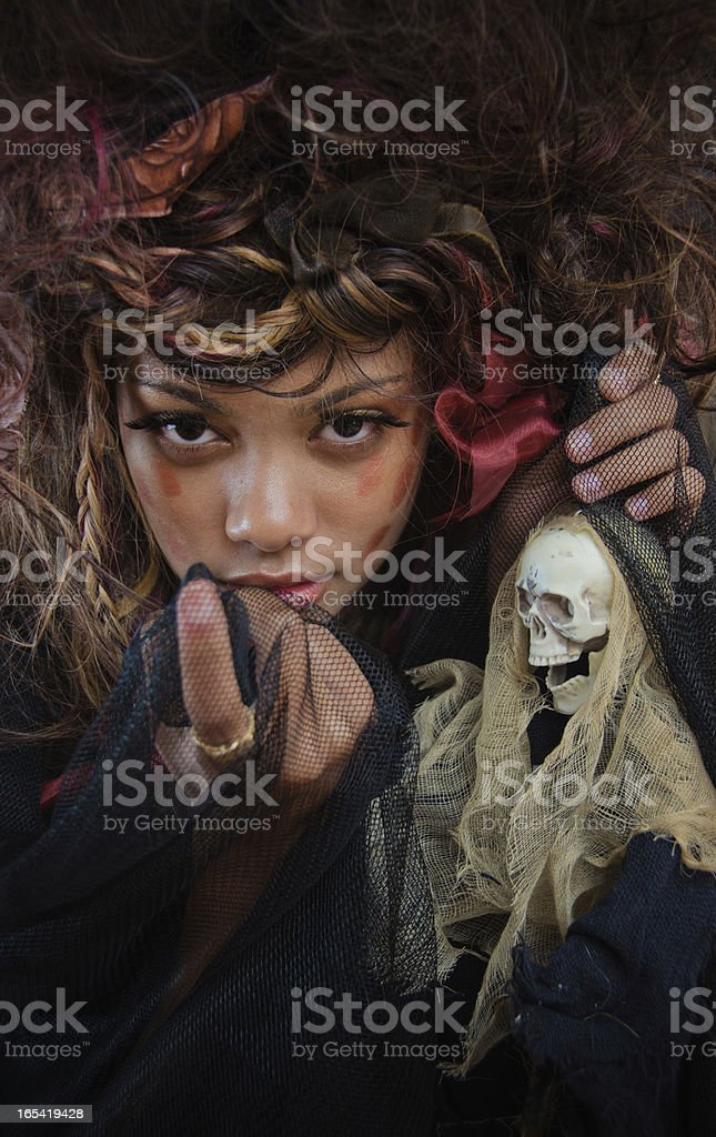 Portrait of a Voodoo Witch royalty-free stock photo
