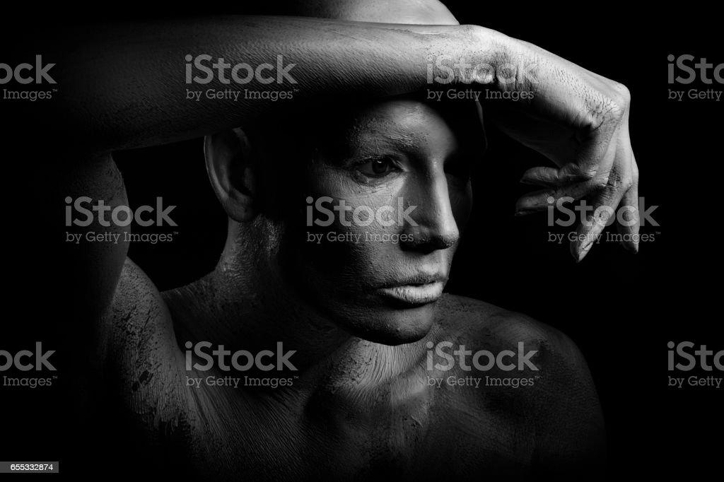 Portrait of a white human stock photo