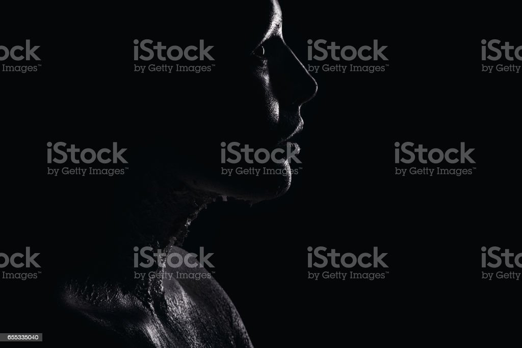 Portrait of a white human stock photo