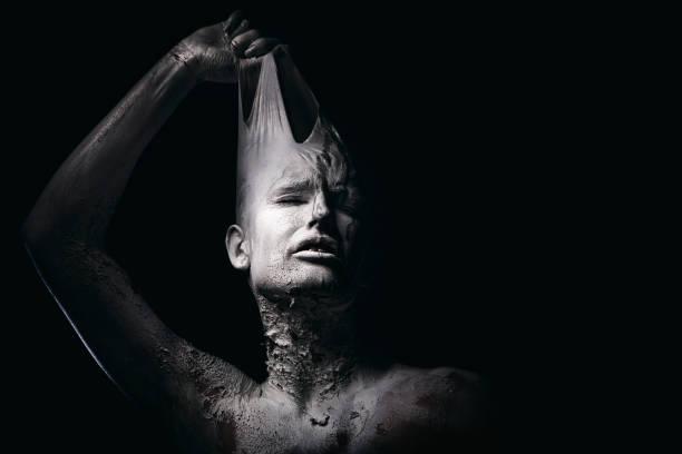 Retrato de un ser humano blanco - foto de stock