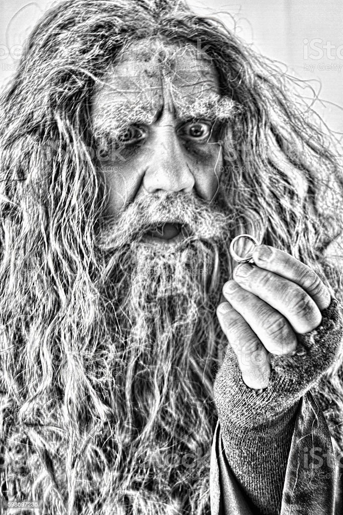 Portrait of a Wizard stock photo