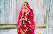 istock Portrait of a woman in a traditional indian outfit 1219062770