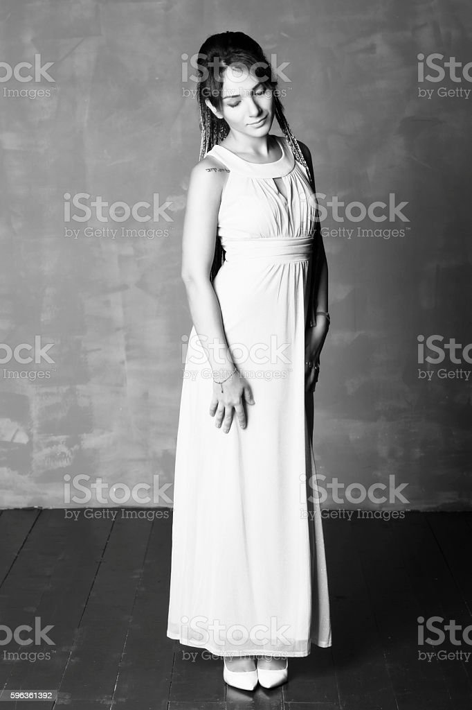 Portrait of a woman in an evening dress. royalty-free stock photo