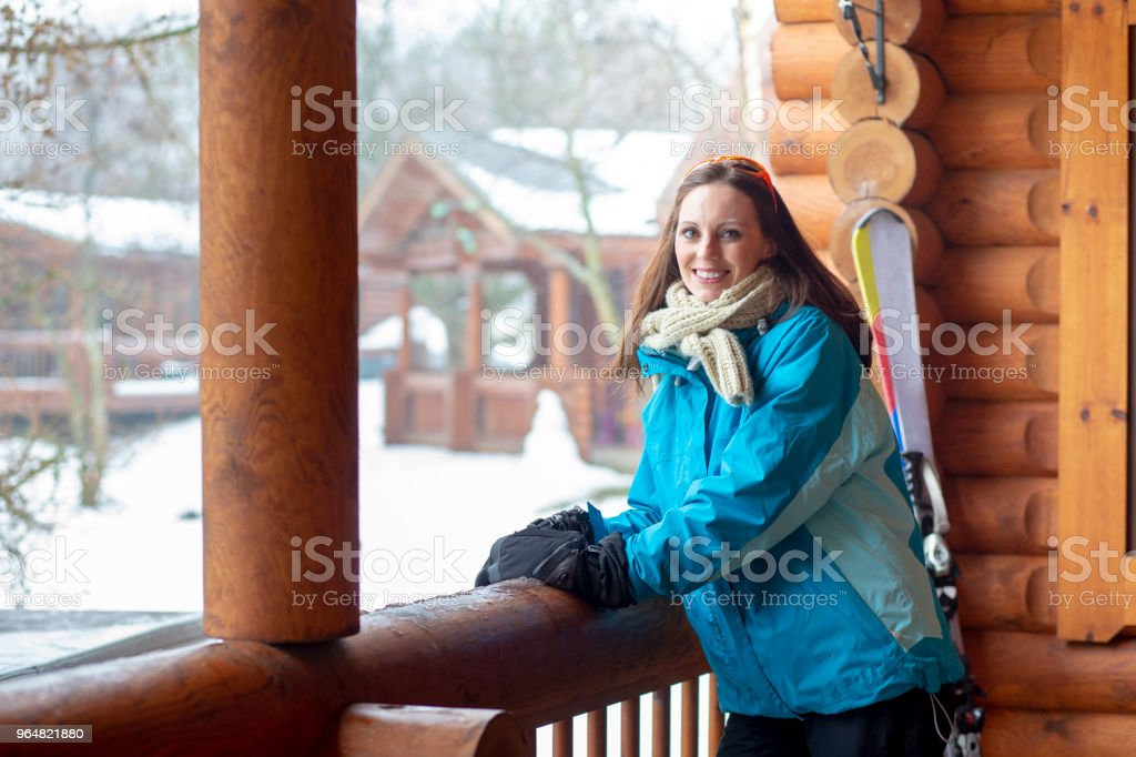 Portrait of a Woman in Ski Wear royalty-free stock photo