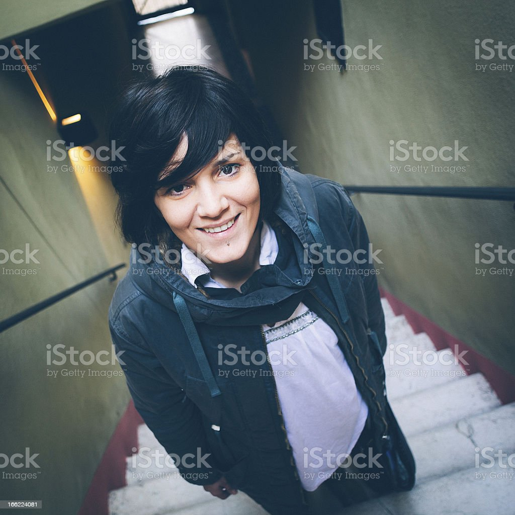 Portrait of a Woman looking at camera royalty-free stock photo