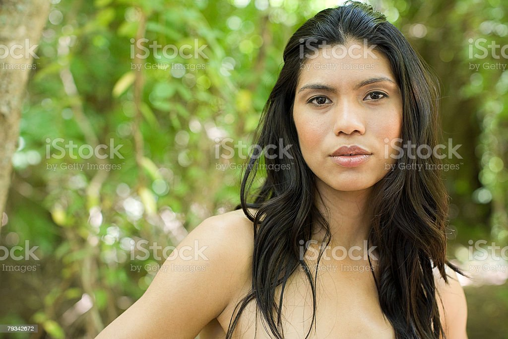 Portrait of a woman outdoors royalty-free stock photo