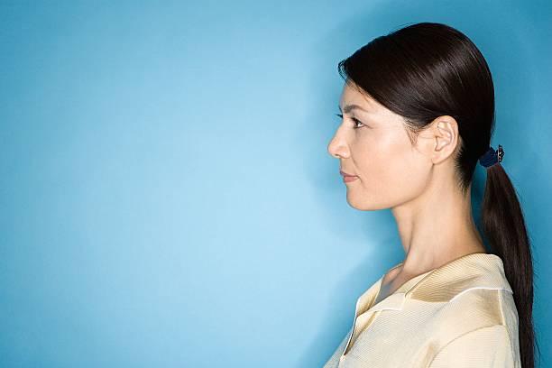 女性のポートレート - スタジオ 日本人 ストックフォトと画像