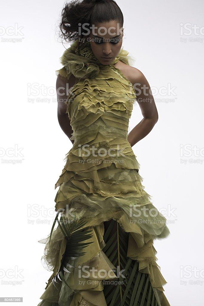 Portrait of a woman wearing a dress 免版稅 stock photo