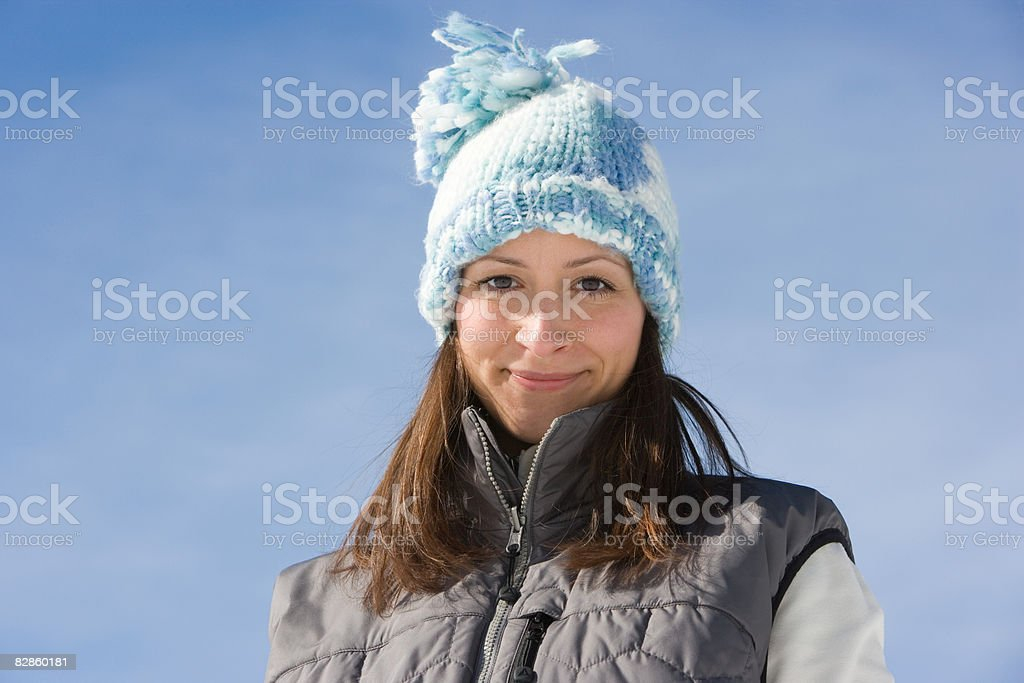 Portrait of a woman wearing a hat royalty free stockfoto