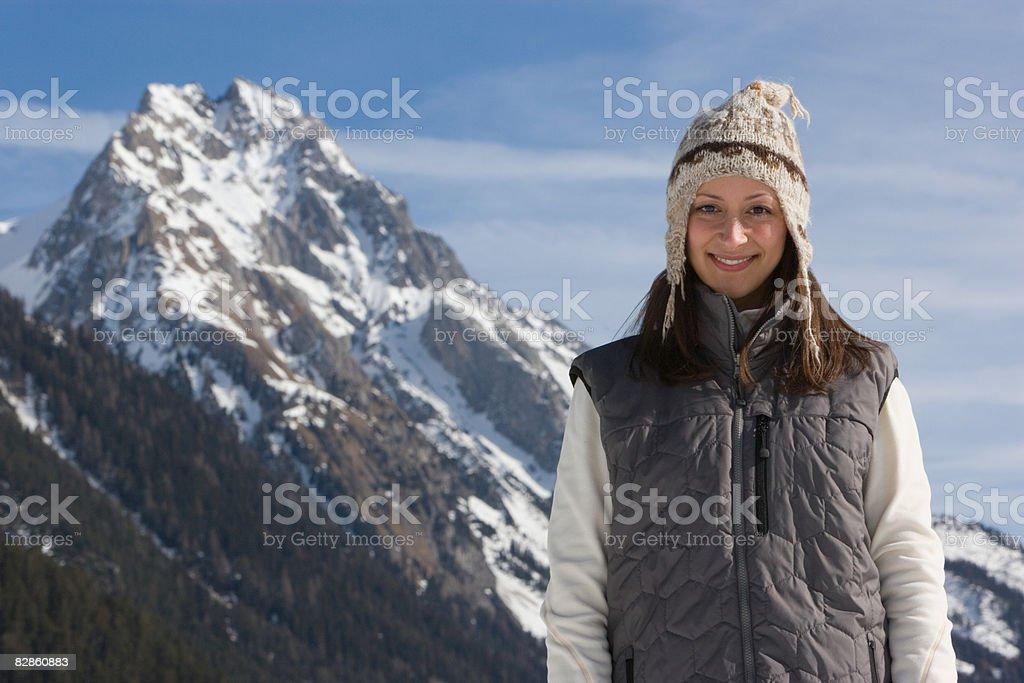 Portrait of a woman wearing a hat royaltyfri bildbanksbilder