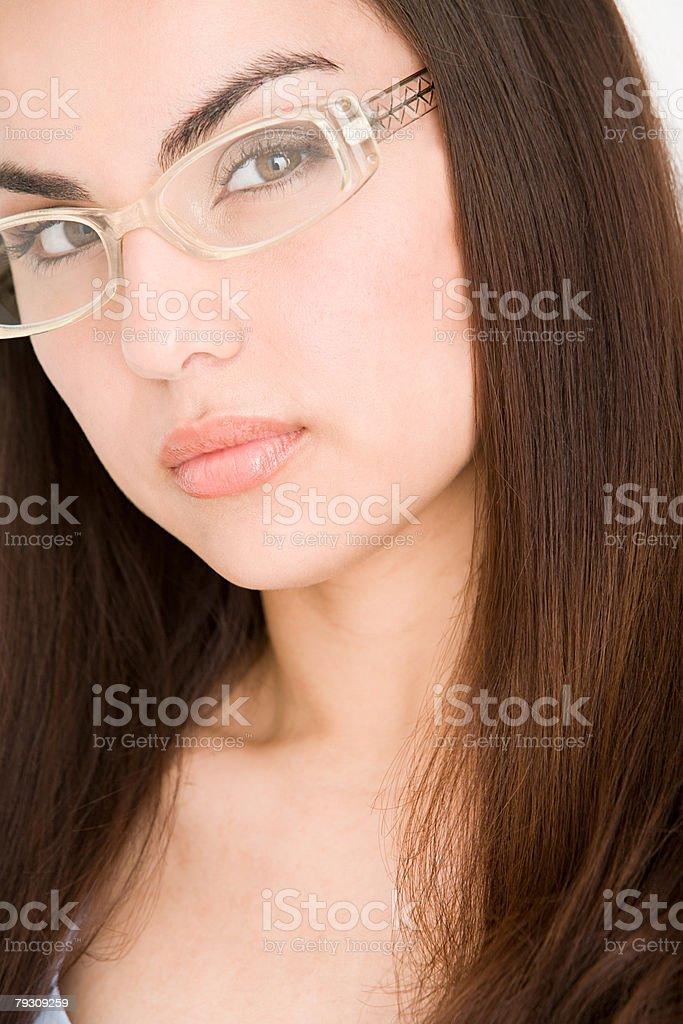 Portrait of a woman wearing glasses 免版稅 stock photo