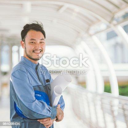 istock Portrait of a worker a mechanic engineer 984098434