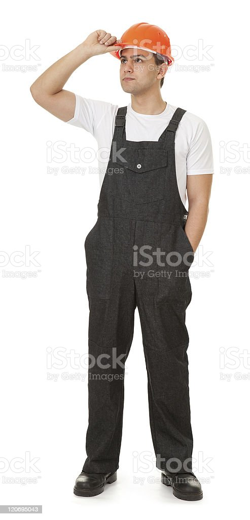 portrait of a worker looks east royalty-free stock photo