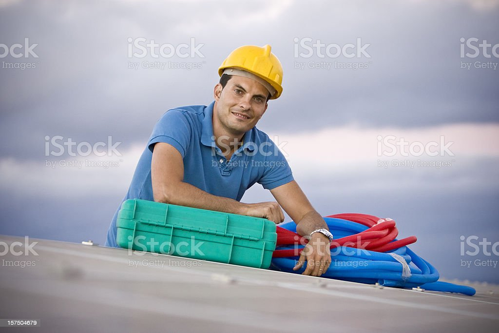 Portrait of a worker royalty-free stock photo