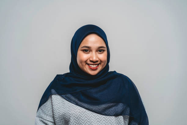 portrait of a young adult malaysian woman - hijab foto e immagini stock