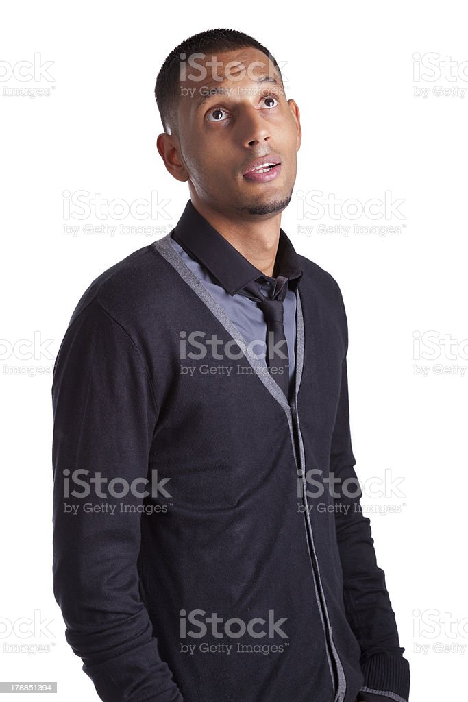 Portrait of a young african american man looking royalty-free stock photo