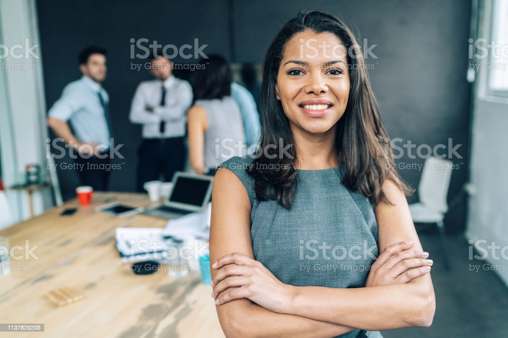 Portrait of a young African ethnicity businesswoman