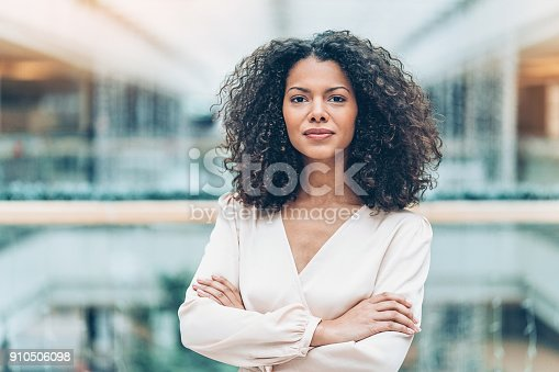 istock Portrait of a young African ethnicity businesswoman 910506098