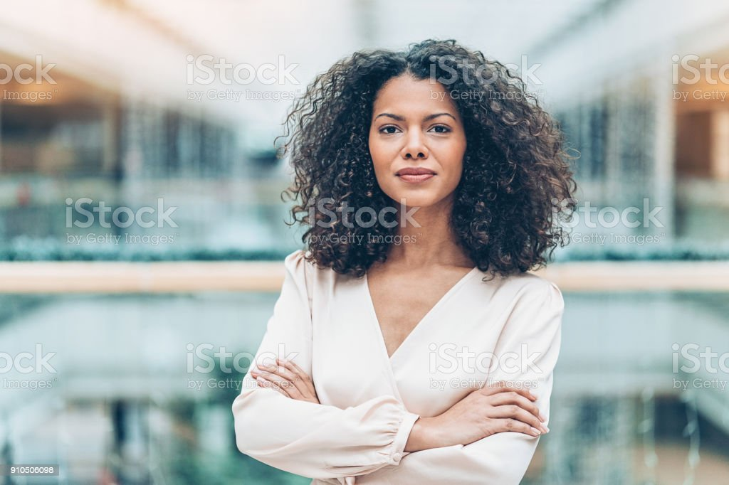 Portrait of a young African ethnicity businesswoman stock photo