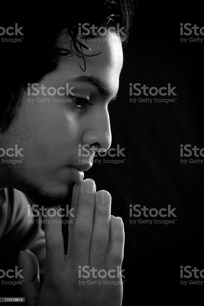 Portrait of a young Arab man, stock photo