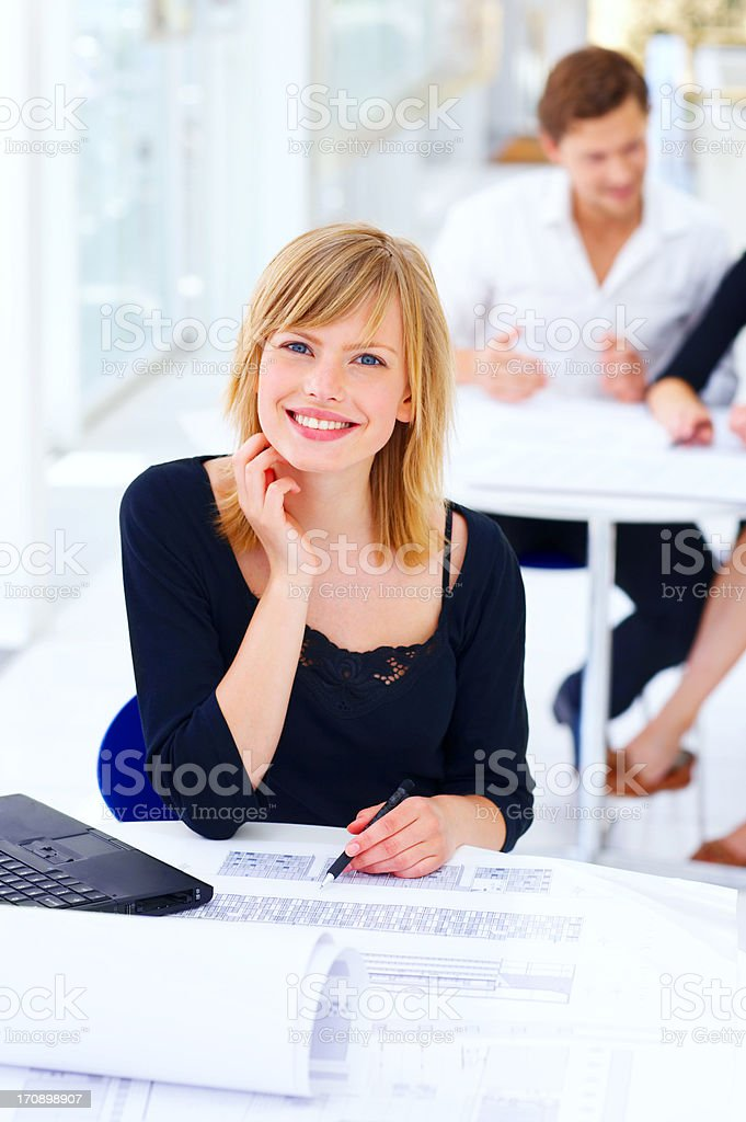 Portrait of a young architect royalty-free stock photo