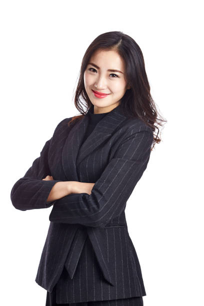portrait of a young asian business woman stock photo