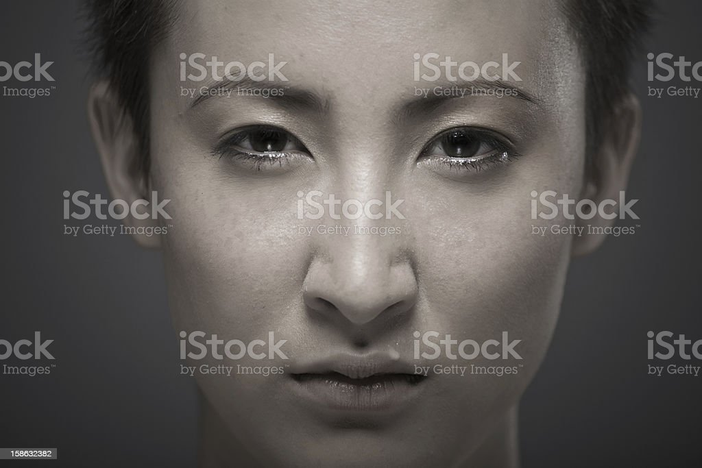 Portrait of a young asian girl royalty-free stock photo