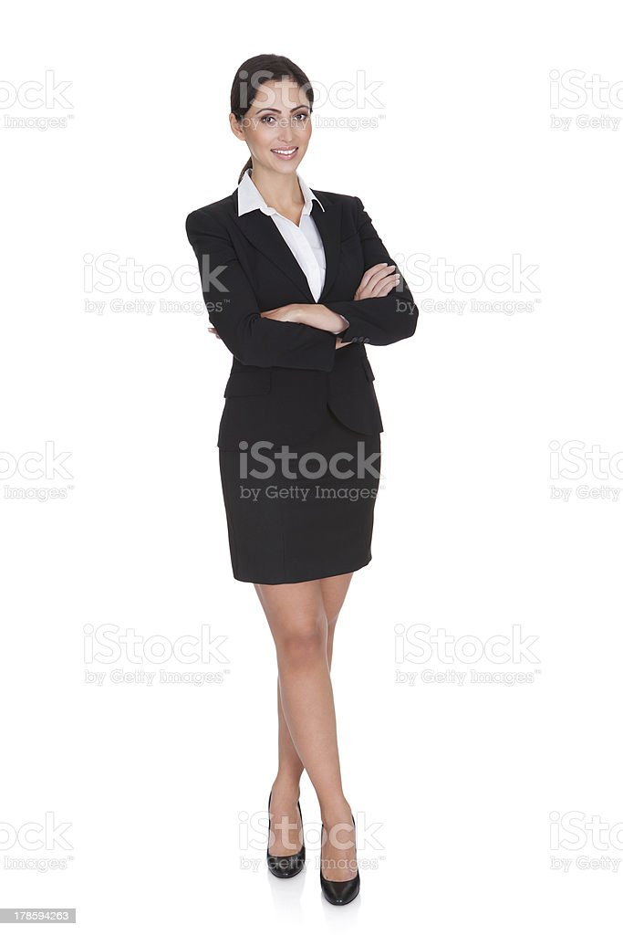Portrait Of A Young Attractive Business Woman royalty-free stock photo