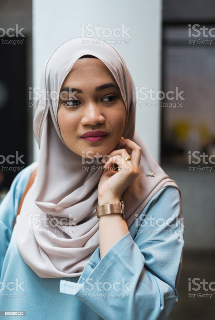 Portrait of a young beautiful Malay woman royalty-free stock photo