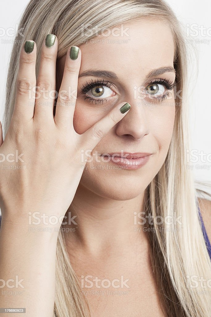 Portrait of a young blond woman royalty-free stock photo