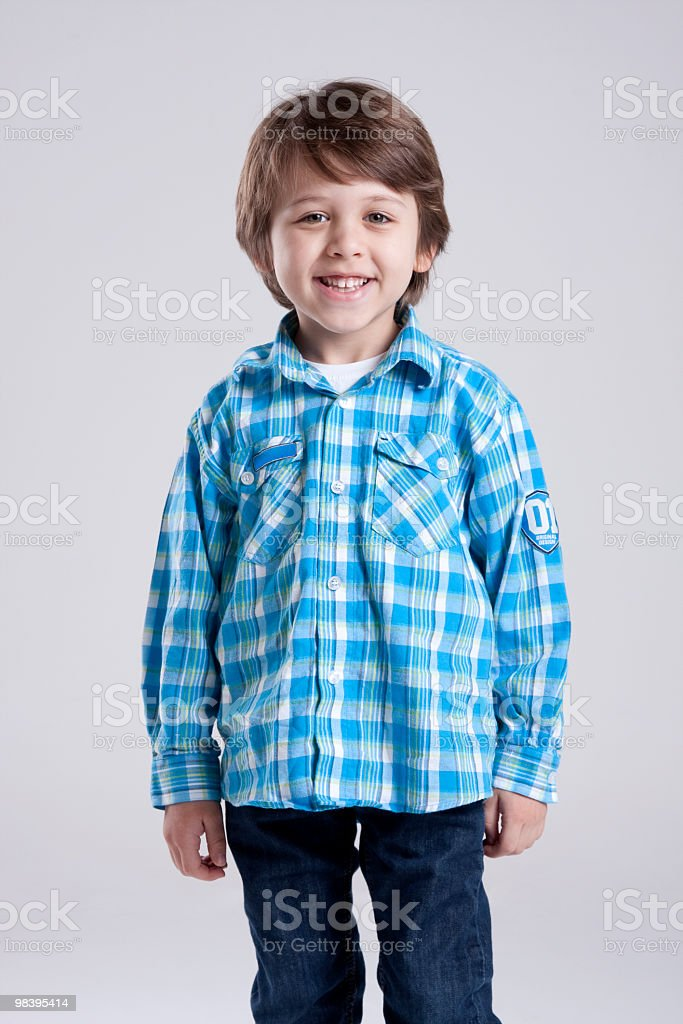 Portrait of a young boy royalty-free stock photo