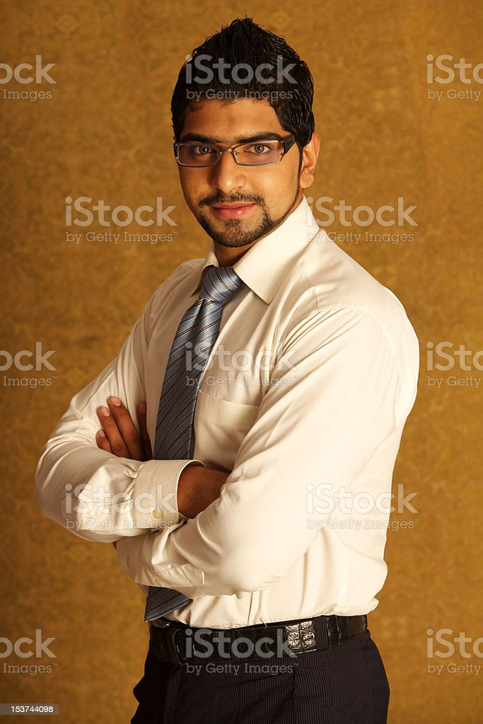 Portrait of a young business man royalty-free stock photo