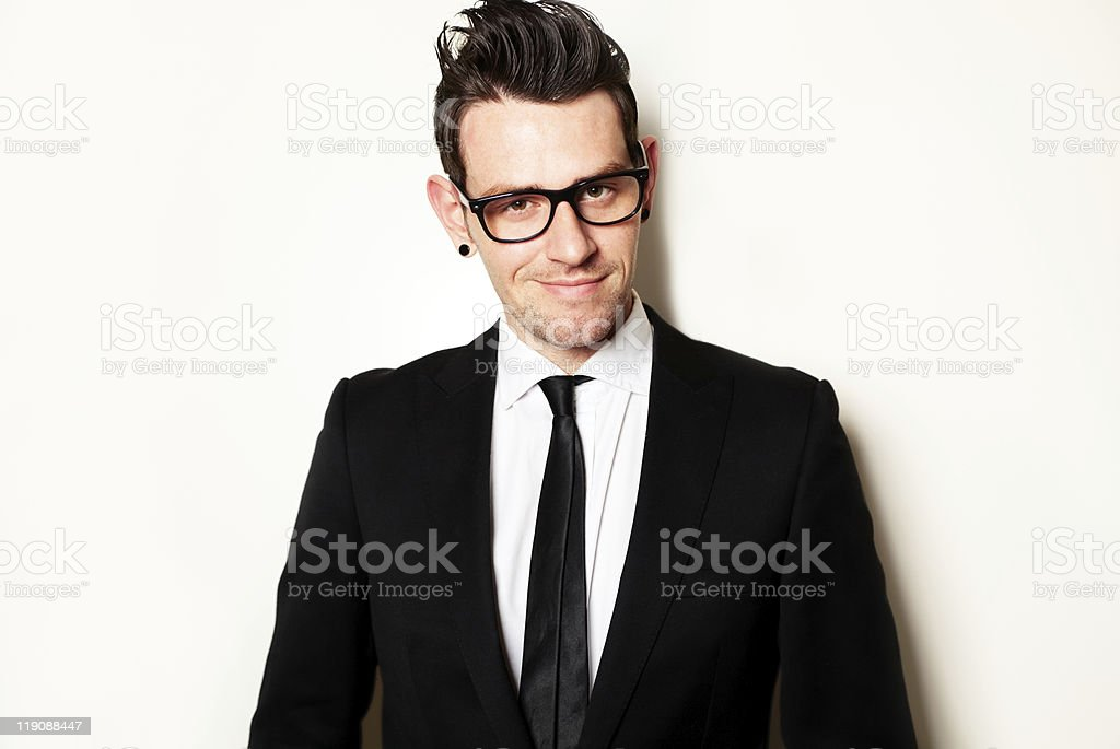 Portrait of a young businessman royalty-free stock photo