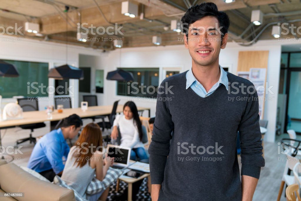 Portrait of a young confident business owner stock photo